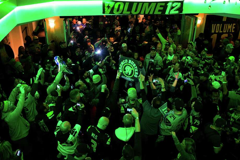 Seahawks fans pile into the bar Copacabana to celebrate the day before Super Bowl XLVIII Saturday, Feb. 1, 2014, in New York City. Photo: JORDAN STEAD, SEATTLEPI.COM / SEATTLEPI.COM
