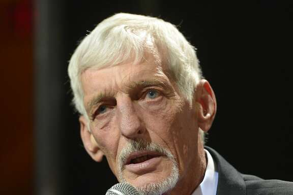 Feb 1, 2014; New  York, NY, USA; Oakland Raiders former punter Ray Guy is introduced for as an inductee for the 2014 Pro Football Hall of Fame class at the 3rd NFL Honors at Radio Music City Hall. Mandatory Credit: Kirby Lee-USA TODAY Sports