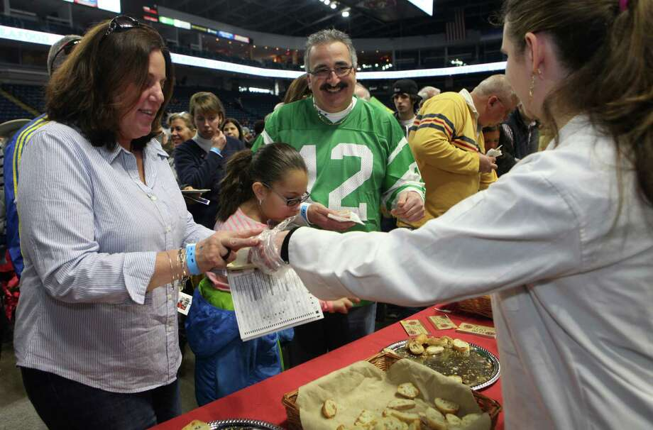 Crowds gather at the 6th annual Chowdafest  at the Webster Bank Arena in Bridgeport, Conn. on Sunday, Feb. 2, 2014. Chowdafest benefits the Connecticut food bank. Photo: BK Angeletti, B.K. Angeletti / Connecticut Post freelance B.K. Angeletti