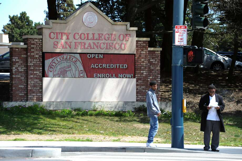 City College of San Francisco, threatened with losing its accreditation, is trying to retain students. Photo: Michael Short, Special To The Chronicle