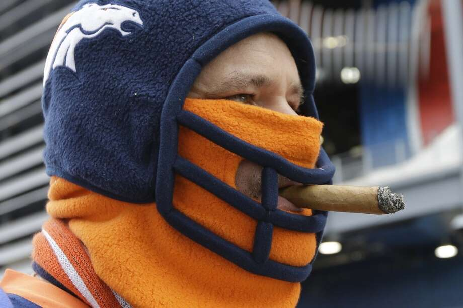 A Broncos fan before the start of the start of the Super Bowl. Photo: Ben Margot, Associated Press