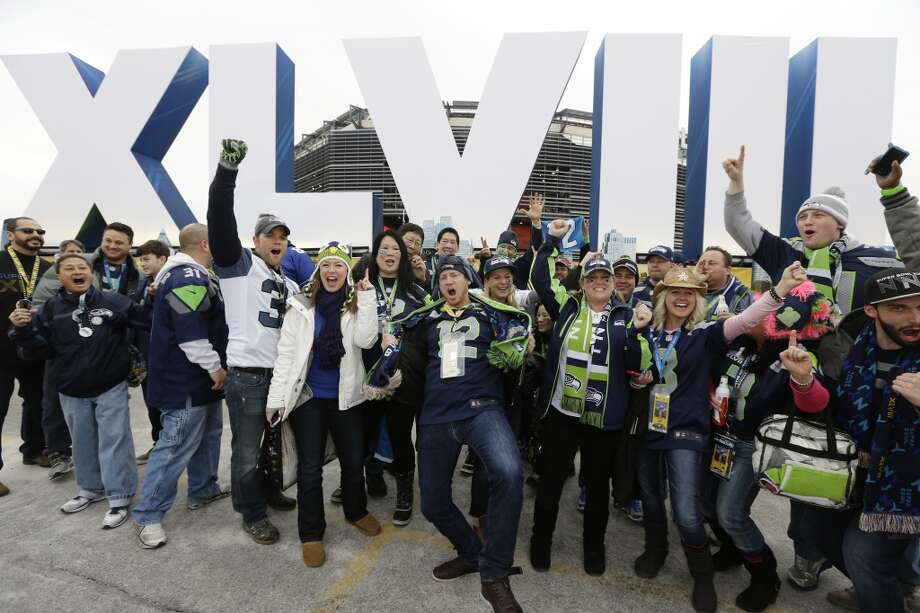 Seahawks fans before the start of the Super Bowl. Photo: Seth Wenig, Associated Press