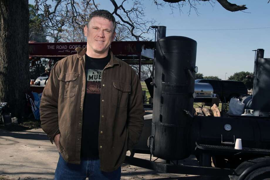 Louie Mueller Barbecue's Wayne Mueller participates in the  Foodways Texas and Texas A&M University's Camp Brisket at the  Rosenthal Meat Science & Technology Center on Jan. 11 in College Station. Camp Brisket focuses smoked brisket, covering topics such as grades/types of beef, types of smokers and more.  ( James Nielsen / Houston Chronicle ) Photo: James Nielsen, Houston Chronicle