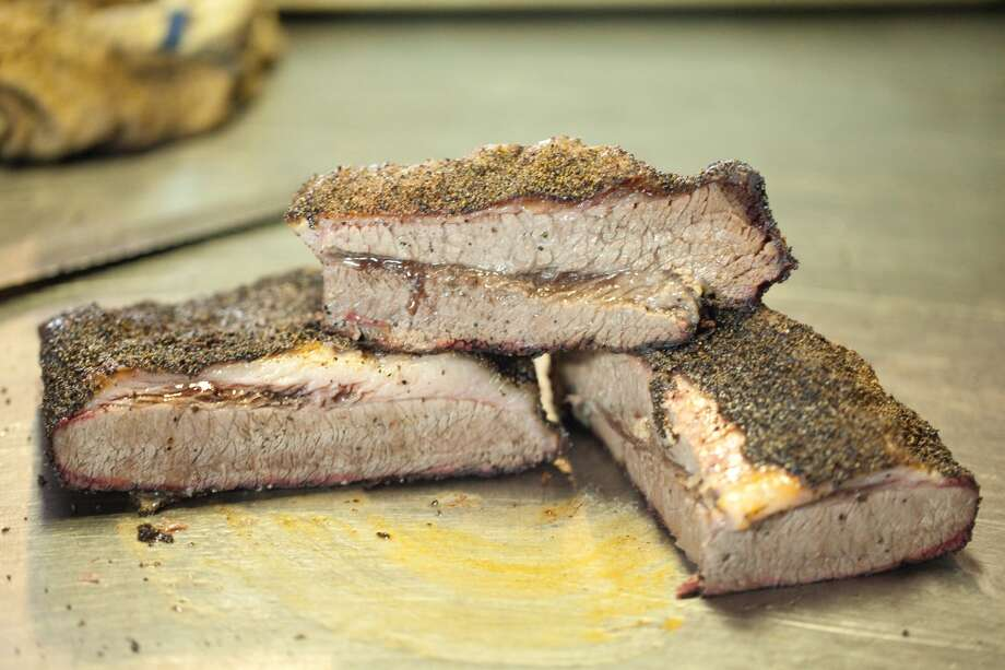 Brisket at Louie Mueller Barbecue in Taylor. (Paul Sedillo / For the Chronicle) Photo: Paul Sedillo