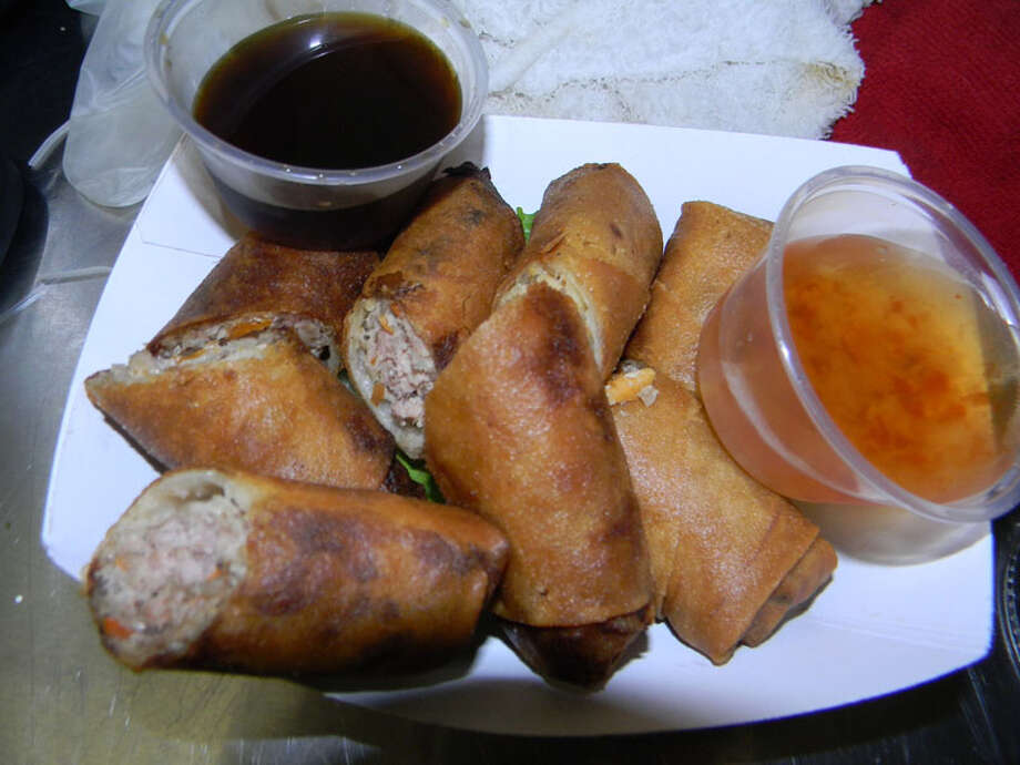 Pork and Veggie Egg Rolls as served by Phamily Bites food truck, , which appeared on Cooking Channel's 'Eat St.' Photo: Paul Galvani