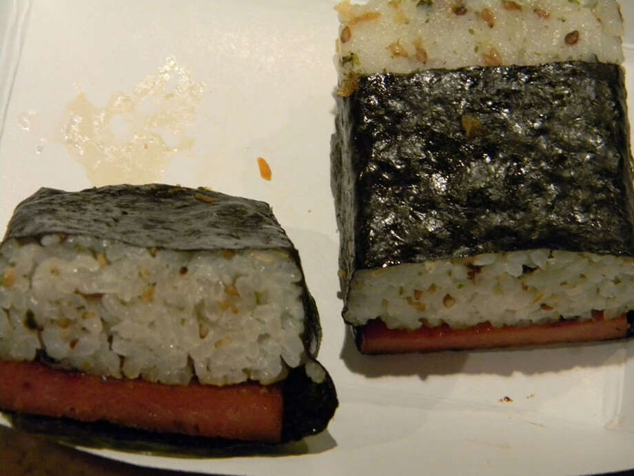 Spam Musubi as served by Phamily Bites, which appeared on Cooking Channel's 'Eat St.' Photo: Paul Galvani
