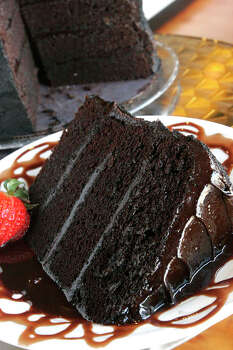 Aunt Etta's Chocolate Cake at The Chocolate Bar, which was featured on 'Kid in a Candy Store' on the Food Network. Photo: Bill Olive, For The Chronicle / Freelance