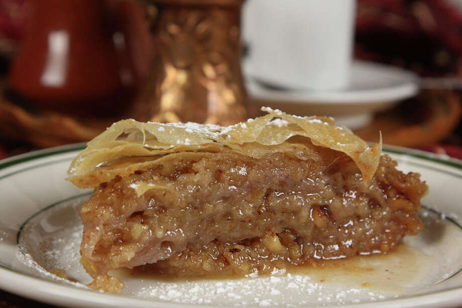 Baklava is a popular dessert at Cafe Pita +, which was featured on Food Network's 'Diners, Drive-Ins and Dives.' Photo: Kim Coffman, Cafe Pita +