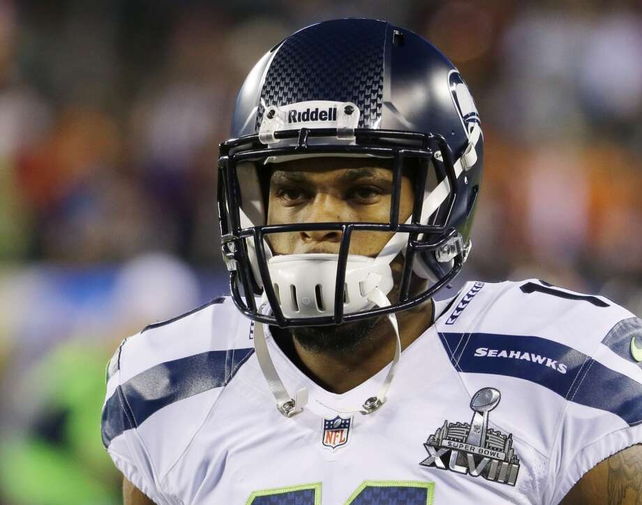 Seahawks receiver Percy Harvin before the start of the Super Bowl.