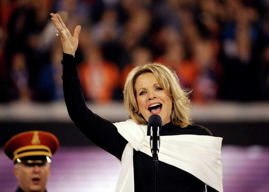 Opera singer Renee Fleming sings the national anthem before the NFL Super Bowl XLVIII football game between the Seattle Seahawks and the Denver Broncos, Sunday, Feb. 2, 2014, in East Rutherford, N.J. Photo: Matt Slocum, AP / AP