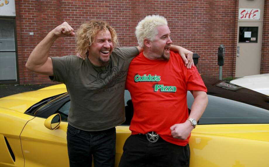 Guy Fieri, a Santa Rosa resident. And we can't really mention Tyler Florence or Guy Fieri without including rock-and-roll hall of famer and Marin resident Sammy Hagar. Hagar joined forces with Florence to open Mill Valley's El Paseo. Pictured: Hagar and Fieri during Sammy Hagar and Guy Fieri - Cabo Wabo Photocall at The Chop House in Santa Rosa. Photo: Steve Jennings, WireImage For Ketchum Entertainm