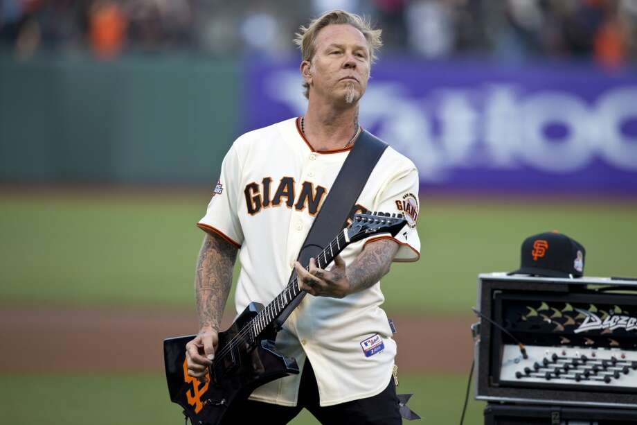 James Hetfield. The Metallica front man lives in Marin, where he's been less-than-neighborly with acts including cutting off trail access on his property near San Rafael. Pictured:  Hetfield performs the national anthem before the game between the San Francisco Giants and the Los Angeles Dodgers at AT&T Park on May 3, 2013 in San Francisco. Photo: Jason O. Watson, Getty Images
