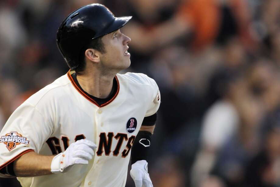 Buster Posey. The Giants MVP and golden boy, who graced the cover of the regional Sports Illustrated last year, has a home in the East Bay. Photo: Carlos Avila Gonzalez, The Chronicle