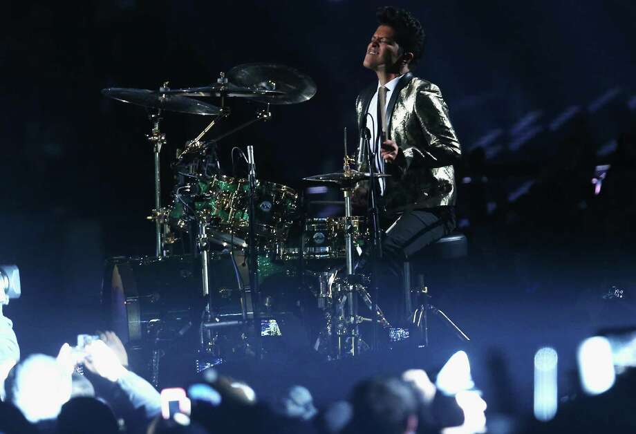 Bruno Mars performs during the Pepsi Super Bowl XLVIII Halftime Show at MetLife Stadium on February 2, 2014 in East Rutherford, New Jersey. Photo: Stephen Dunn, Getty Images / 2014 Getty Images