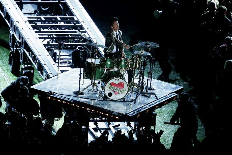 Bruno Mars performs during the Pepsi Super Bowl XLVIII Halftime Show at MetLife Stadium on February 2, 2014 in East Rutherford, New Jersey. Photo: Win McNamee, Getty Images / 2014 Getty Images
