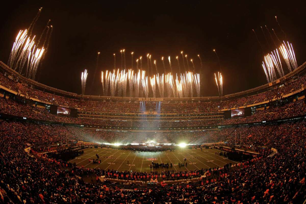 Halftime at Super Bowl XLVIII. (AP Photo/Charlie Riedel)