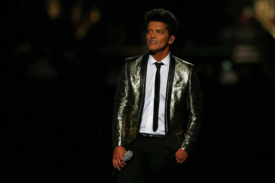 Bruno Mars performs during the Pepsi Super Bowl XLVIII Halftime Show at MetLife Stadium on February 2, 2014 in East Rutherford, New Jersey. Photo: Elsa, Getty Images / 2014 Getty Images