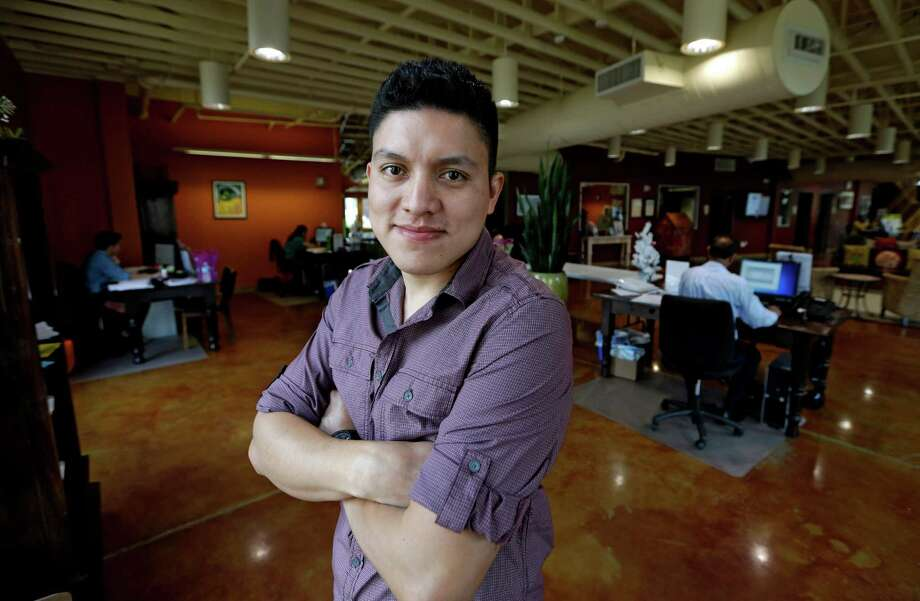 Manuel Enrique Angel, 28, of El Salvador, will take advantage of a program at a Houston credit union that offers low-interest loans to help pay citizenship costs. Photo: David J. Phillip, STF / AP