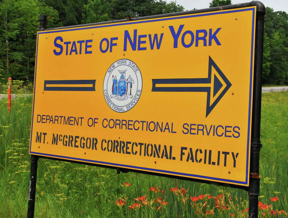 Sign near the entrance to Mt. McGregor Correctional Facility in Wilton Wedenesday morning July 1, 2009. Camp McGregor at the facility will officially close today after at least a decade of talk about its demise. (John Carl D'Annibale / Times Union)