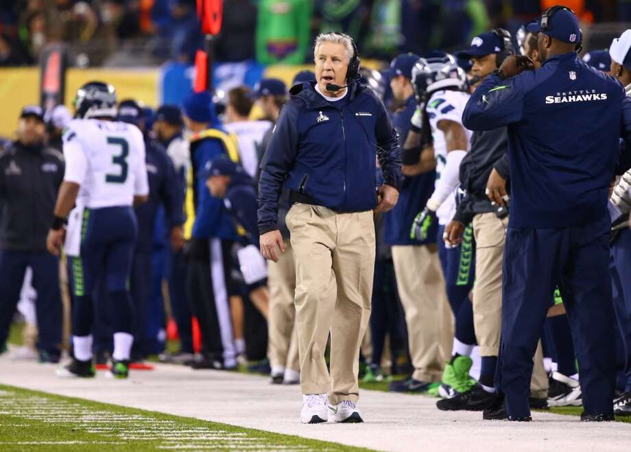 Seattle Seahawks head coach Pete Carroll on the sideline during the third quarter of Super Bowl XLVIII Sunday, Feb. 2, 2014, at MetLife Stadium in New Jersey. (Joshua Trujillo, seattlepi.com) Photo: SEATTLEPI.COM
