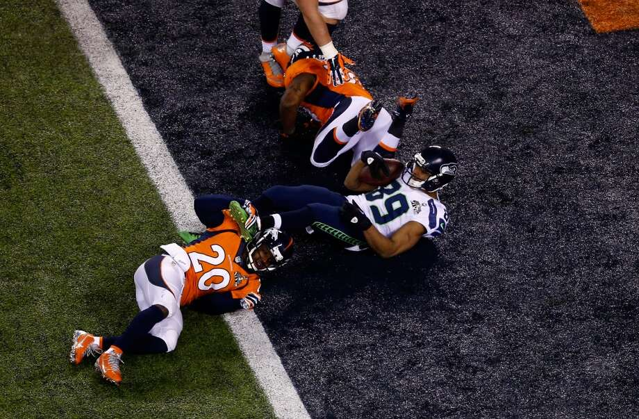 Wide receiver Doug Baldwin #89 of the Seahawks scores a fourth quarter touchdown. Photo: Jeff Zelevansky, Getty Images