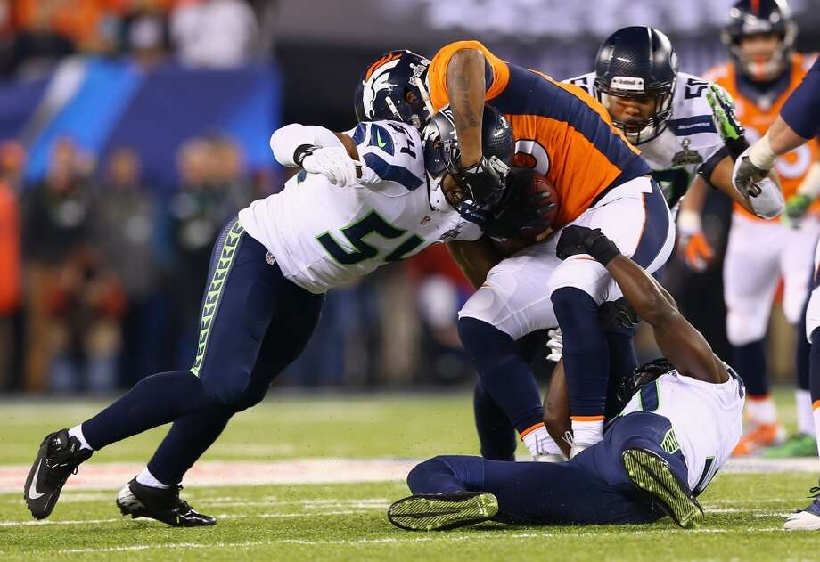 Tight end Julius Thomas #80 of the Broncos catches a pass. Photo: Elsa, Getty Images