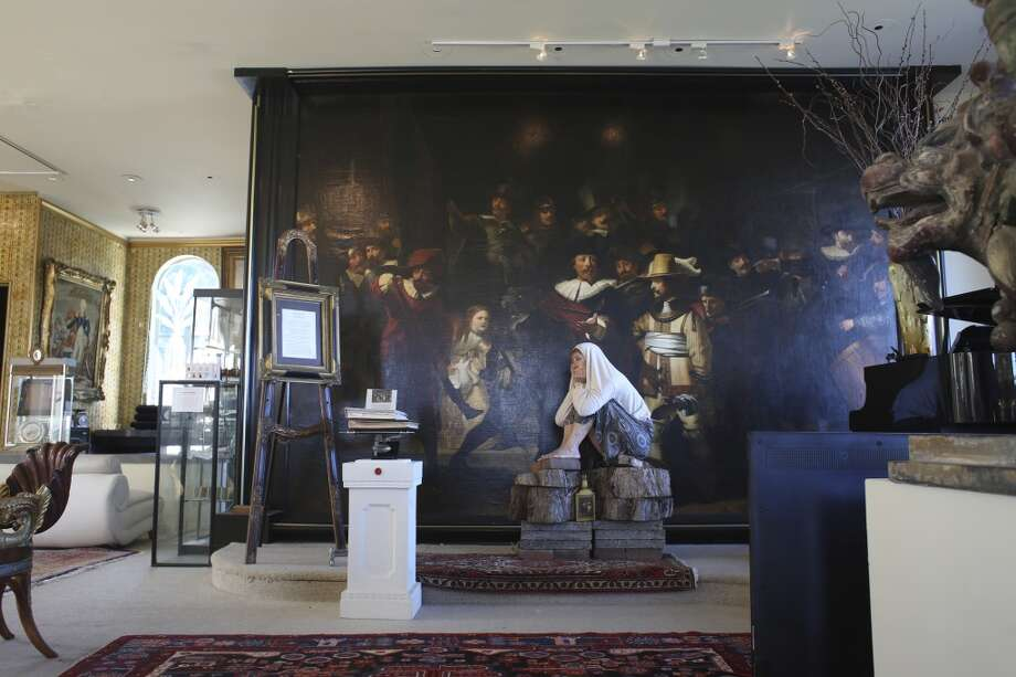 "A reproduction of the Rembrant's ""The Night Watch"" covers the upstairs wall at The Pritikin Museum in San Francisco, Calif. Photo: The Chronicle"