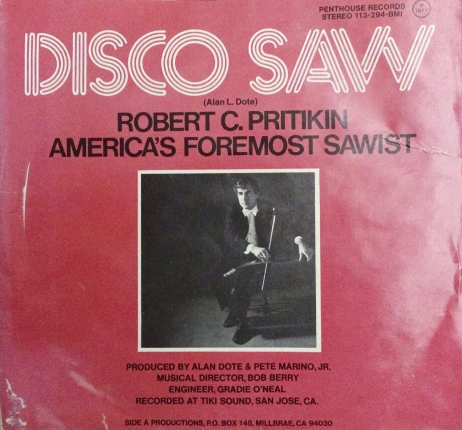 In 1977, Bob Pritikin owner of The Pritikin Museum in San Francisco, Calif., recorded a 45 called Disco Saw. He is an accomplished saw musician. Photo: The Chronicle