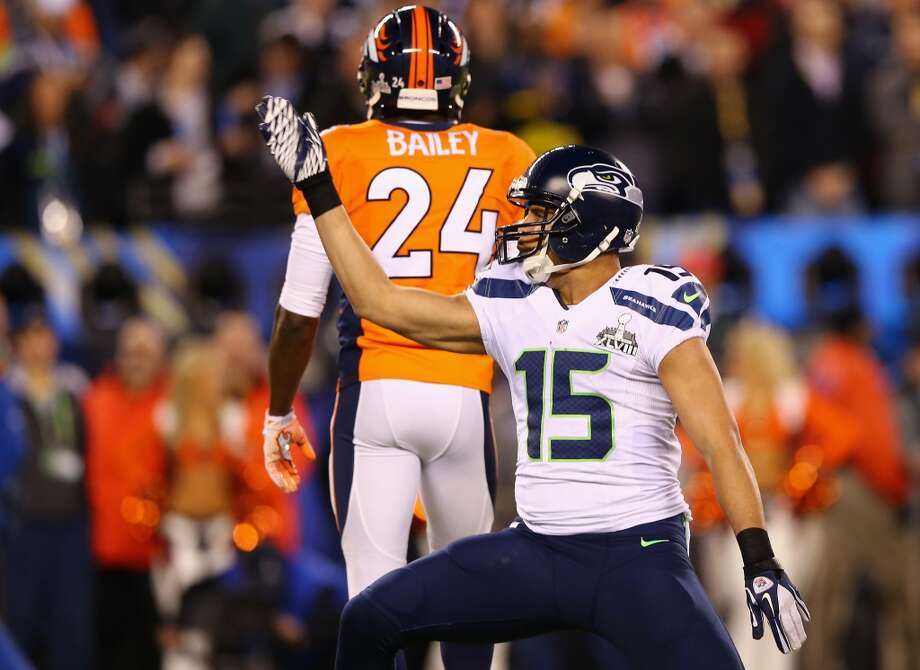 "Wide receiver Jermaine Kearse  ""'Leave no doubt.' We started that at the beginning of the season. That's just the mindset we wanted to have throughout the whole season. Just go every game and leave no doubt in mind that you're going to play your best, you're going to give it all, and that's exactly what we did throughout this whole season."" Photo: Elsa, Getty Images"
