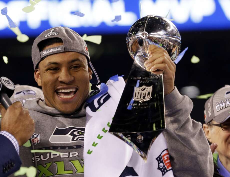 "Linebacker Malcolm Smith (Super Bowl MVP)  ""I always imagined myself making great plays. Never thought about being MVP."" Photo: Ted S. Warren, ASSOCIATED PRESS"
