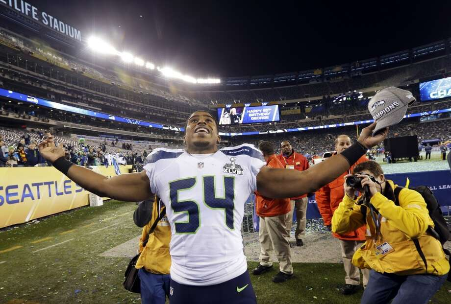 "Linebacker Bobby Wagner  ""That feels amazing. We're part of history. That's something that we've been dreaming about all season. One-hundred years from now, y'all are going to remember this team."" Photo: Ted S. Warren, ASSOCIATED PRESS"