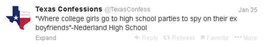 "The @TexasConfess Twitter account has more than 21,000 followers. Posts like this one are done ""anonymously,"" but are generally more explicit. Some posts include photos of the alleged behavior or person(s) involved."