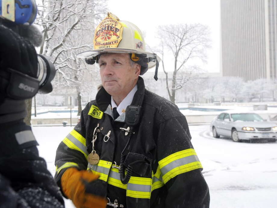 Executive Deputy Chief Warren Abriel, shown in February 2012, was named Monday as chief of the Albany Fire Department by Mayor Kathy Sheehan.  (Lori Van Buren / Times Union archive) Photo: Lori Van Buren