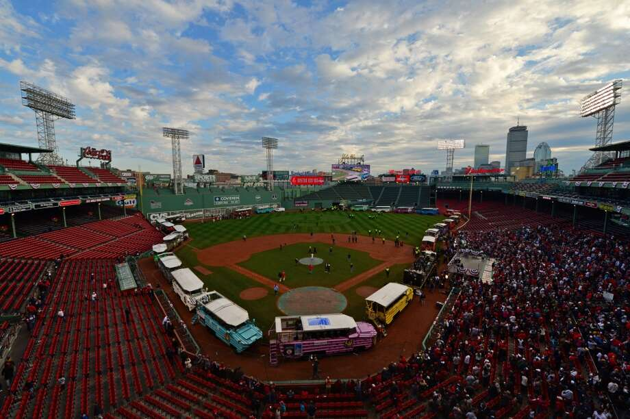 5. Boston Average 2013 salary: $94,531; Change from 2012: Decrease of 0.2%, or $211 (Michael Ivins/Boston Red Sox/Getty Images) Photo: Michael Ivins/Boston Red Sox, Getty Images