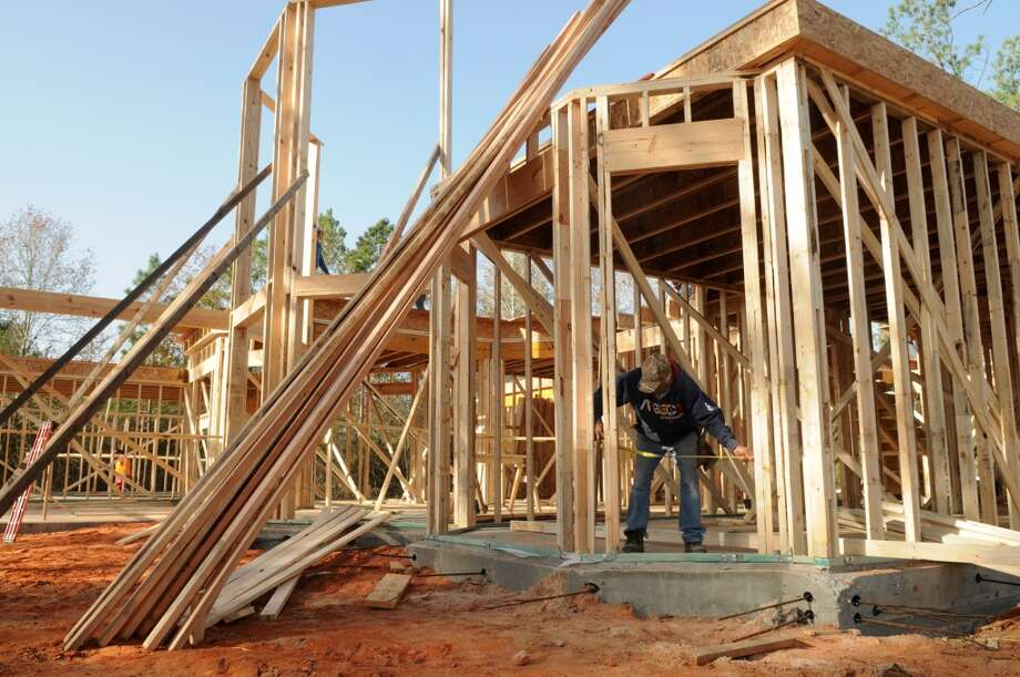 A home being built in Woodforest. Photo: Jerry Baker, For The Chronicle