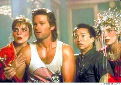 "'Big Trouble in Little China' - Kurt Russel stars in the so-schlocky-it's-fun ""Big Trouble in Little China."""