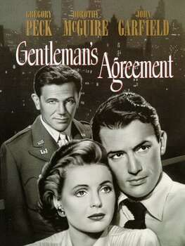 """Gentleman's Agreement"" - A reporter pretending to be Jewish learns first-hand the horrors of bigotry.Best PictureBest Director (Elia Kazan)Best Supporting Actress (Celeste Holm)Related: Full list of nominees for the 86th Academy Awards"