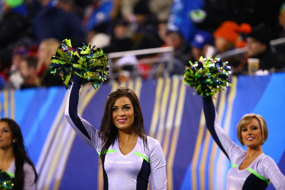 Seattle Seahawk Sea Gals cheer during Super Bowl XLVIII Sunday, Feb. 2, 2014, at MetLife Stadium in New Jersey. (Joshua Trujillo, seattlepi.com) Photo: SEATTLEPI.COM
