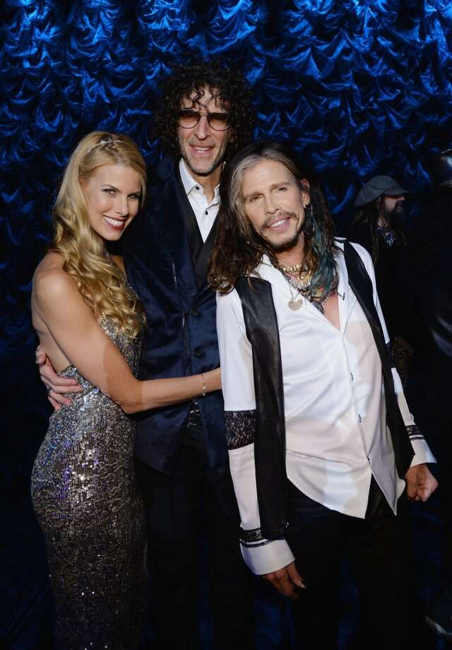 "(L-R) Beth Ostrosky Stern, Howard Stern and Steven Tyler attend ""Howard Stern's Birthday Bash"" presented by SiriusXM, produced by Howard Stern Productions at Hammerstein Ballroom on January 31, 2014 in New York City. Photo: Larry Busacca, Getty Images For SiriusXM"
