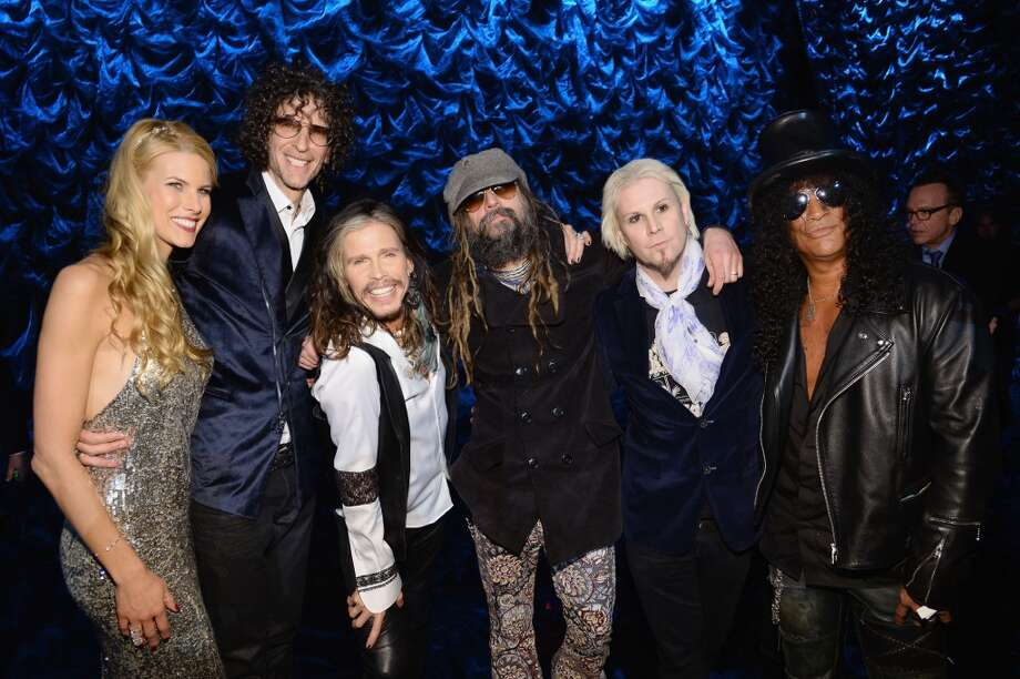 "(L-R) Beth Ostrosky Stern, Howard Stern, Steven Tyler, Rob Zombie, John 5 and Slash attend ""Howard Stern's Birthday Bash"" presented by SiriusXM, produced by Howard Stern Productions at Hammerstein Ballroom on January 31, 2014 in New York City. Photo: Larry Busacca, Getty Images For SiriusXM"