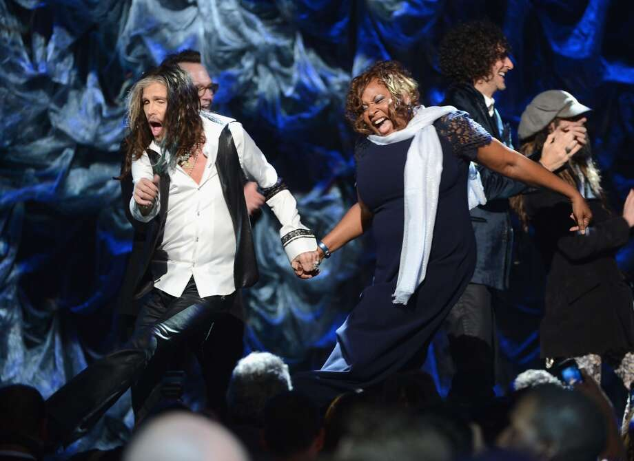"Steven Tyler and Robin Quivers attend ""Howard Stern's Birthday Bash"" presented by SiriusXM, produced by Howard Stern Productions at Hammerstein Ballroom on January 31, 2014 in New York City.  (Photo by Theo Wargo/Getty Images for SiriusXM) Photo: Theo Wargo, Getty Images For SiriusXM"