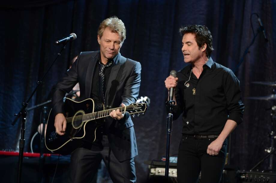 "Jon Bon Jovi and Patrick Monahan perform onstage at ""Howard Stern's Birthday Bash"" presented by SiriusXM, produced by Howard Stern Productions at Hammerstein Ballroom on January 31, 2014 in New York City. Photo: Theo Wargo, Getty Images For SiriusXM"