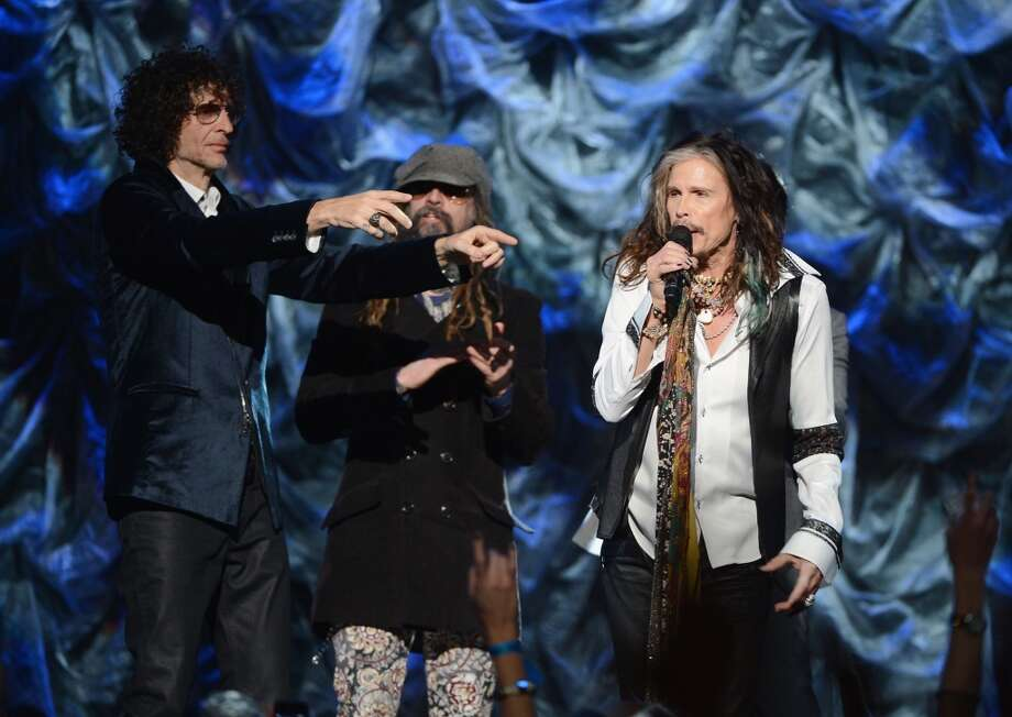 "Howard Stern, Rob Zombie and Steven Tyler attend ""Howard Stern's Birthday Bash"" presented by SiriusXM, produced by Howard Stern Productions at Hammerstein Ballroom on January 31, 2014 in New York City. Photo: Theo Wargo, Getty Images For SiriusXM"