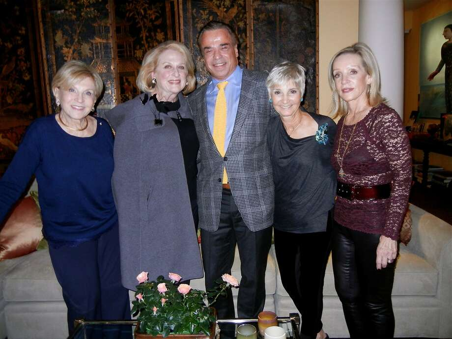 Lois Lehrman (left) with Sally Debenham, Boaz Mazor, Gail Glasser and Barbara Brown at a dinner in Mazor's honor. Photo: Catherine Bigelow, Special To The Chronicle