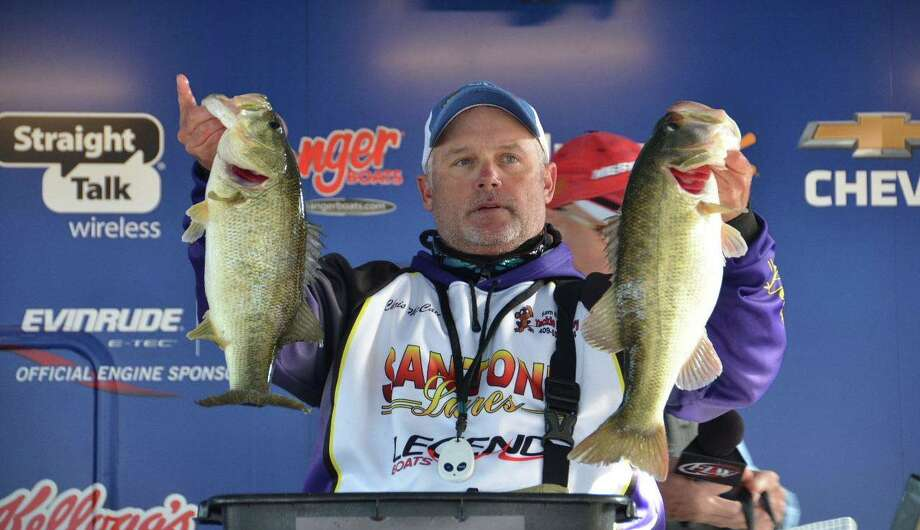 Chris McCall of Brookleland, Texas Claims FLW totle on Sam Rayburn. Photo by Kyle Woods