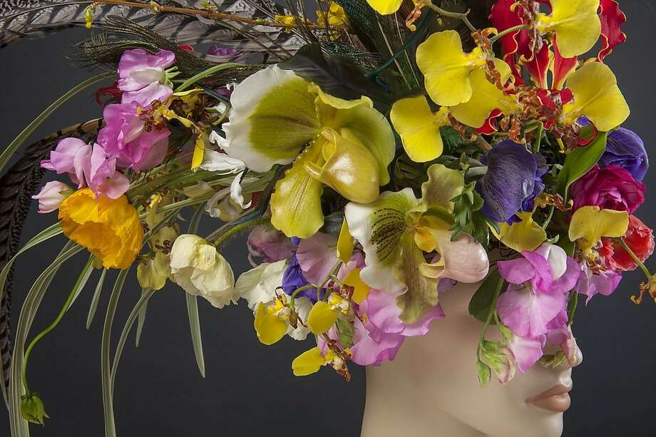 The San Francisco Flower and Garden show takes place Wednesday through next Sunday at the San Mateo Event Center. Pictured: A floral design by Natasha Lisitsa. Photo: Saxon Holt