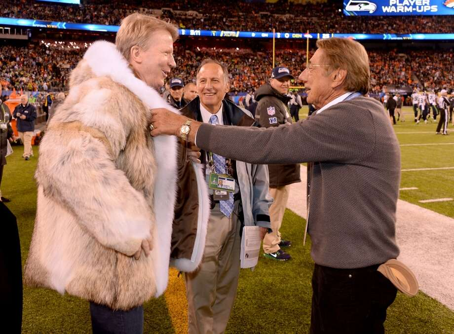 Joe Namath stole the show at the Super Bowl on Sunday, Feb. 2, thanks to his glorious fur coat. Take a look at others celebrities who have taken on this controversial style, and some who have faked the look, over the years.  Photo: Theo Wargo, FilmMagic