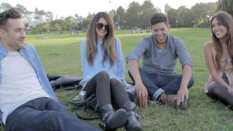 "Sean Conroy (left), Stephanie Lopez, Justin Flores and Nicole Sun at Dolores Park in Eliseo Cabrera's ""Remember You're Special."" Photo: S.F. IndieFest"