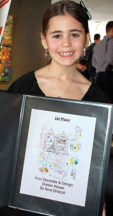 Nina Driscoll, age 8, was last year's winner in the 6-8-year-old category of the Toy Makers Design Competition with her design for ìYour Decorate & Design Dream House.î The competition is sponsored by the Westport Arts Center. Photo: Contributed Photo / Westport News