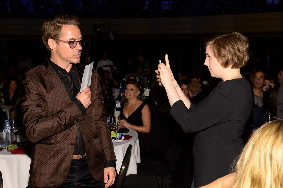 "Robert Downey Jr. and Lena Dunham attend ""Howard Stern's Birthday Bash"" presented by SiriusXM, produced by Howard Stern Productions at Hammerstein Ballroom on January 31, 2014 in New York City. Photo: Larry Busacca, Getty Images For SiriusXM"